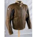 Pánská kožená bunda, hnědá, krátká