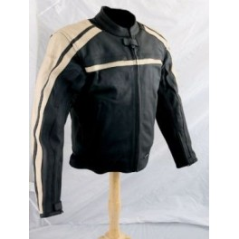 Pánská kožená bunda, černá, krátká