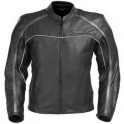 Pánská kožená bunda, černá, krátká, motorkářská