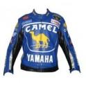 Pánská kožená bunda, modrá, krátká, motorkářská