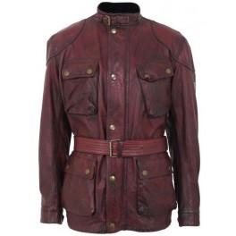 Pánská kožený kabát